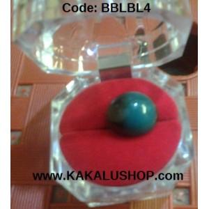 Batu Bacan Kristal Bentuk Bulat Warna Biru Lumut