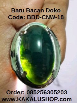 Jual Cincin Batu Bacan Doko Kristal Warna Hijau Daun