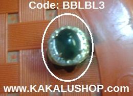 Cincin Batu Bacan Kristal Warna Biru Lumut Asli Alam Pulau Bacan Maluku Utara