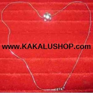 Kalung Besi Putih Model Halus Berliontin Asli Morotai