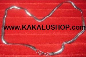 Kalung Besi Putih Model Ular Asli Morotai